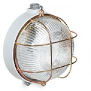 Bulkhead lamp (round, with protective cage)