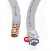 Metalinis gofruotas vamzdis, dengtas PVC, su EMC ekranu, DMC-EMP