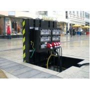 Underfloor distribution box