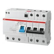 Residual current circuit breaker for heating cable